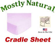 Cradle Sheet Fitted Solid Lavender Jersey Knit