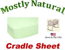 Cradle Sheet Fitted Soft Mint Jersey Knit