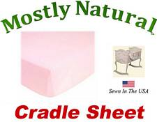 Cradle Sheet Fitted Organic Baby Pink Jersey Knit