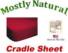 Cradle Sheet Fitted Solid Red Jersey Knit