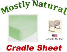 Cradle Sheet Fitted Solid Sage Jersey Knit