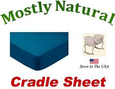 Cradle Sheet Fitted Teal Jersey Knit