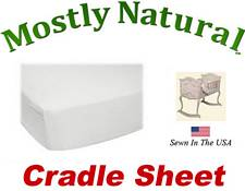 Cradle Sheet Fitted Solid White Jersey Knit