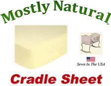 Cradle Sheet Fitted Soft Yellow Jersey Knit