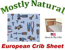 European Crib Sheet Fitted Baby Tools Cotton Percale