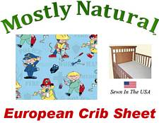 European Crib Sheet Fitted Kiddie Profession Cotton Percale