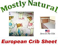 European Crib Sheet Fitted Baby Ballerina Cotton Percale
