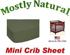 Mini Crib Sheet Fitted Army Green Jersey Knit
