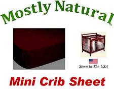 Mini Crib Sheet Fitted Burgundy Jersey Knit