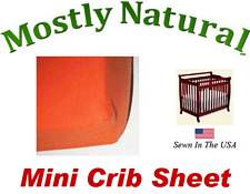 Mini Crib Sheet Fitted Deep Orange Jersey Knit