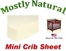 Mini Crib Sheet Fitted Solid Ivory Jersey Knit
