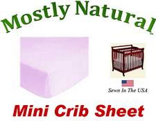 Mini Crib Sheet Fitted Solid Lavender Jersey Knit