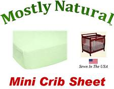 Mini Crib Sheet Fitted Soft Mint Jersey Knit