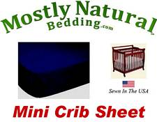 Mini Crib Sheet Fitted Solid Navy Jersey Knit