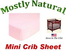 Mini Crib Sheet Fitted Organic Baby Pink Jersey Knit