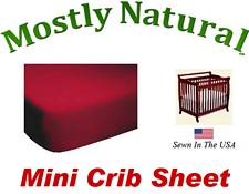 Mini Crib Sheet Fitted Solid Red Jersey Knit