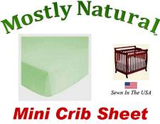 Mini Crib Sheet Fitted Solid Sage Jersey Knit