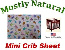 Mini Crib Sheet Fitted Ballerina Slippers Cotton Percale