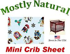 Mini Crib Sheet Fitted Pirates Cotton Percale