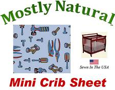 Mini Crib Sheet Fitted Baby Tools Cotton Percale