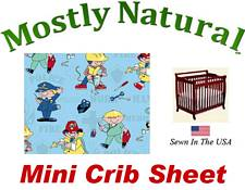 Mini Crib Sheet Fitted Kiddie Profession Cotton Percale