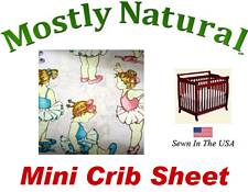 Mini Crib Sheet Fitted Baby Ballerina Cotton Percale
