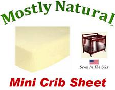 Mini Crib Sheet Fitted Soft Yellow Jersey Knit