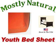 Youth Bed Sheet Fitted Deep Orange Jersey Knit