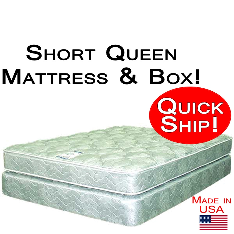 Short Queen Size Abe Feller 174 Mattress Set Good