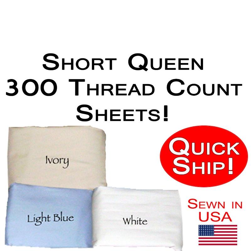 Short Queen Size Sheet Sets 300 Thread Count