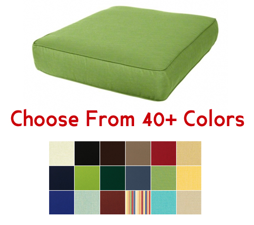 "Deep Seating Chair Cushion 24"" x 27"" CHOOSE YOUR COLOR"
