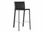 Crawford Black Leather Counter Height Stool Restaurant Furniture