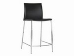 Jenson Black Leather Counter Height Stool Restaurant Furniture
