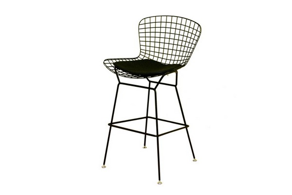 Bertoia Style Black Wire Barstool Restaurant Furniture
