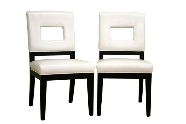 Furniture Dining Room Furniture Dining Chair White Leather Din
