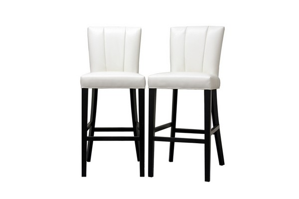 Janvier Off White Leather Modern Bar Stool Restaurant  : Y 929 DU8143 from www.finewebstores.com size 600 x 400 jpeg 21kB