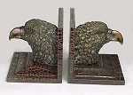 Eagle Head Resin Bookends