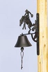 Cast Iron Cowboy Wall Bell
