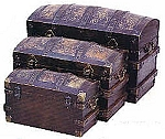 Steamer Trunks, Set Of Three