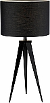 Director Table Lamp with Black Metal Tripod Legs