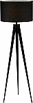 Director Floor Lamp with Black Metal Tripod Legs