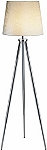 Toulouse Floor Lamp with Chrome Tripod Legs