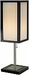 Berk Table Lamp with Satin Steel Finish