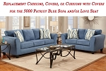 Replacement Cushions for 5000 Patriot Blue Sofa and Loveseat