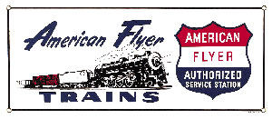 American Flyer Train Metal Sign