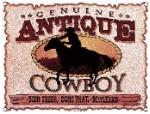 Antique Cowboy Metal Sign