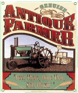 Antique Farmer Metal Sign
