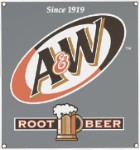 A & W Root Beer Metal Sign