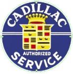Cadillac Service Metal Sign
