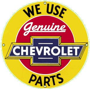 Chevrolet Parts Metal Sign